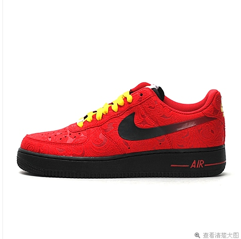Nike Air Force 1 Low Red Flower Black Sneaker